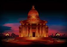 Monumento histórico famoso del Parthenon de la acrópolis ateniense, Grecia Stock de ilustración
