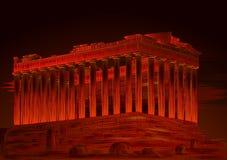 Monumento histórico famoso del Parthenon de la acrópolis ateniense, Grecia ilustración del vector