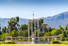 Monumento Huguenot francese in Franschhoek, la Provincia del Capo Occidentale Sudafrica fotografia stock libera da diritti