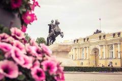 Monumento il cavallerizzo bronzeo Fotografia Stock Libera da Diritti