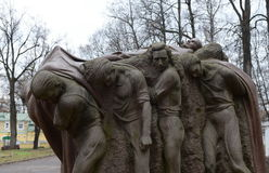 Monumento il funerale del capo Scultore Sergey Merkurov in Leninskiye Gorki immagine stock