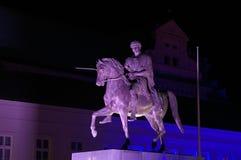 Monumento iluminado imágenes de archivo libres de regalías