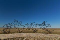 Monumento indio en el monumento nacional del Bighorn Imagen de archivo