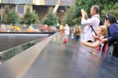 Monumento infinito de la piscina del 11 de septiembre Imagen de archivo libre de regalías