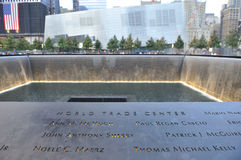 Monumento infinito de la piscina del 11 de septiembre Fotos de archivo