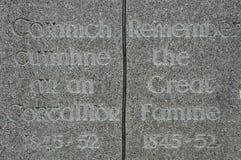 Monumento irlandés del hambre Imágenes de archivo libres de regalías