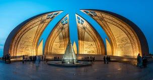 Monumento Islamabad de Paquistão fotografia de stock