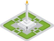 Monumento isometrico di monas a Jakarta Fotografie Stock Libere da Diritti