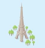 Monumento isometrico piano di vettore 3d illustrazione di stock