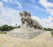 Monumento jako Bandeiras, Sao Paulo SP Brazylia obraz stock