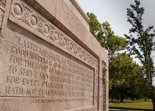 Monumento a Jamestown, la Virginia, U.S.A. Immagine Stock