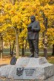 Monumento a Jerzy Zietek foto de archivo