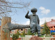 Monumento a Khoja Nasreddin em sua cidade natal de Aksehir, Turquia Fotografia de Stock