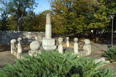 Monumento a Kniaz Milão na fortaleza da cidade de Nis, Sérvia Foto de Stock Royalty Free