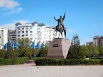 Monumento Kurmangazy em Aktau Fotos de Stock Royalty Free