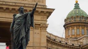 Monumento a Kutuzov perto da catedral de Kazan Imagem de Stock