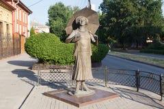 Monumento a la actriz Ranevskaya Imagenes de archivo