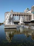Monumento La Bandera - het Vierkant van Lola Mora stock afbeeldingen