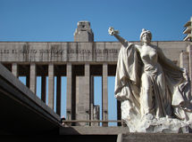 Monumento La Bandera - het Vierkant van Lola Mora Royalty-vrije Stock Afbeelding