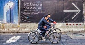 9/11 monumento a la derecha Imagen de archivo libre de regalías