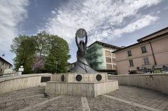 Monumento a la lira un Rieti Fotos de archivo