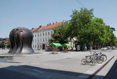 Monumento a la lucha de la liberación de la gente Imagen de archivo libre de regalías