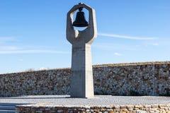 Monumento la madre que se aflige en el cementerio de Rossoshka foto de archivo