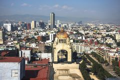 Monumento a la revolución, Tabacalera, capital de México céntrico foto de archivo