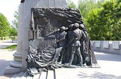 Monumento a la victoria soviética sobre fascismo en la Segunda Guerra Mundial imagen de archivo