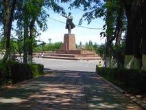 Monumento a Lenin da lontano Immagini Stock