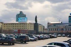 Monumento a Lenin en Ekaterimburgo, en el ` del cuadrado del ` en 1905 Foto de archivo