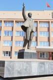 Monumento a Lenin en el territorio de Zelenogorsk Krasnoyarsk Fotos de archivo libres de regalías