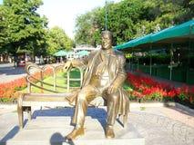 Monumento a Leonid Utesov en Odessa Imagenes de archivo