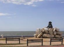 Monumento llamado la novia del mar imagen de archivo