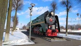 Monumento locomotor en Orsha, Bielorrusia Fotografía de archivo libre de regalías