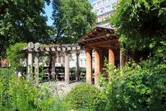 Monumento Londres del jardín del 11 de septiembre Imagen de archivo libre de regalías