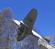 Monumento a los aviones de bombardero pesado soviéticos IL-2 en Istra, Rusia imagenes de archivo