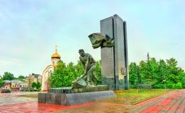 Monumento a los combatientes de la revolución en cuadrado de la revolución en la ciudad de Ivanovo, Rusia imágenes de archivo libres de regalías