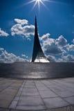 Monumento a los conquistadores del espacio Imágenes de archivo libres de regalías