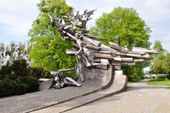 """Monumento a los defensores de la oficina de correos polaca, """"SK de GdaÅ Foto de archivo libre de regalías"""