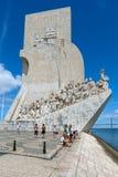 Monumento a los descubrimientos en Lisboa Imagen de archivo