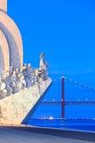 Monumento a los descubrimientos, Lisboa, Portugal Fotos de archivo