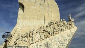Monumento a los descubrimientos, Lisboa, Portugal Fotografía de archivo libre de regalías