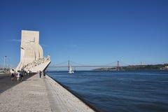 Monumento a los descubrimientos Lisboa Portugal Imagen de archivo libre de regalías