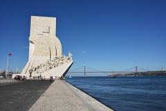 Monumento a los descubrimientos Lisboa Portugal Fotografía de archivo