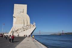 Monumento a los descubrimientos Lisboa Portugal Foto de archivo libre de regalías
