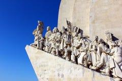 Monumento a los descubrimientos portugueses del mar, Lisboa Fotografía de archivo libre de regalías