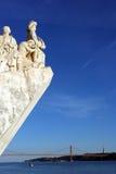 Monumento a los descubrimientos portugueses del mar, Lisboa, Portugal Fotografía de archivo libre de regalías