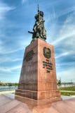 Monumento a los fundadores de la ciudad de Irkutsk Imagen de archivo