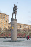 Monumento a los héroes de la primera guerra mundial fragmento moscú Imagenes de archivo